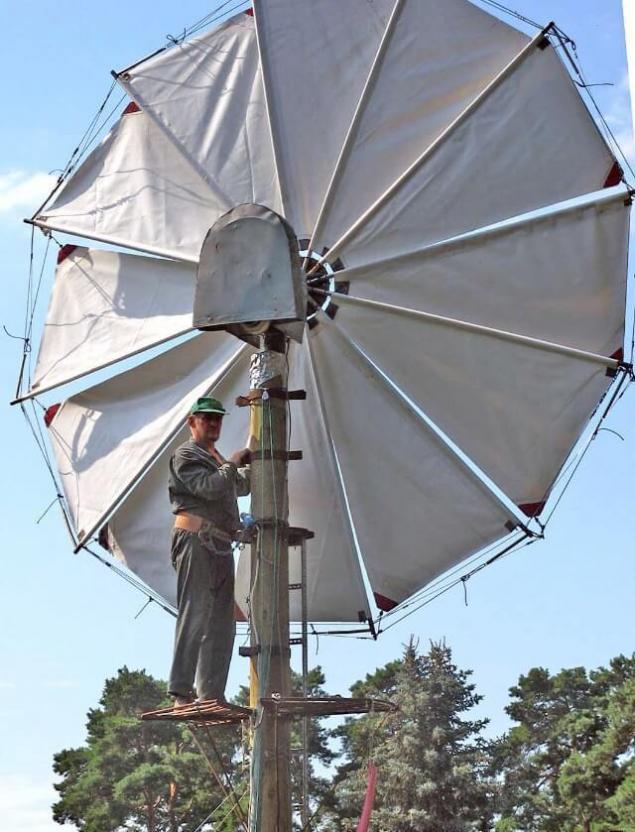 Парусный ветрогенератор своим руками