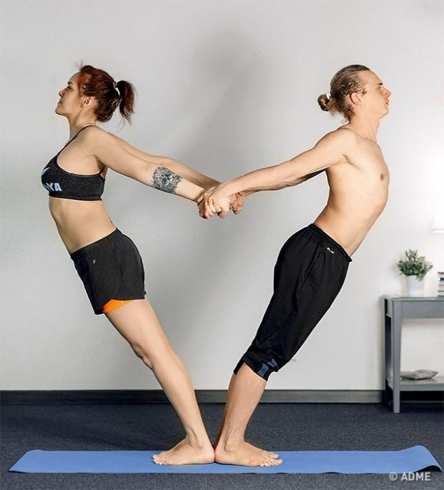 12 Yoga Poses For Two People Who Learn To Trust Each Other Page 1