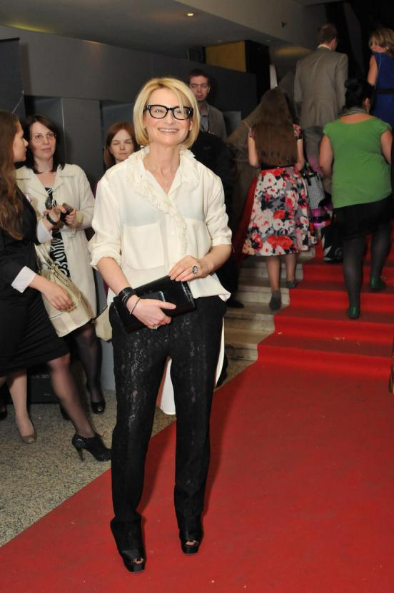 Evelina Khromchenko was shocked by her tasteless sexual outfit 04/22/2013