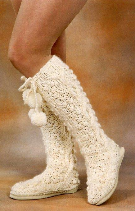 Схемы, модели и описания вязания. женские серые гетры вязаные спицами - Вязание Вязание для