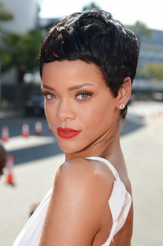 13 of Rihannas Trendiest Short Hairstyles  2019