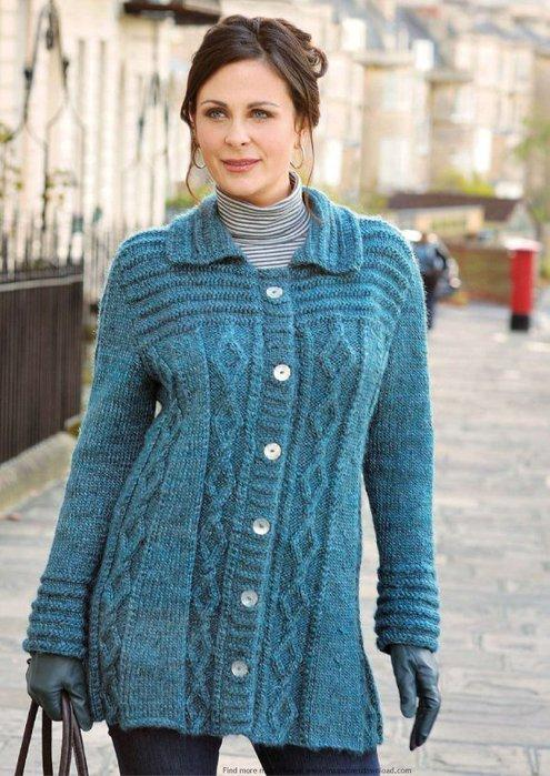 Метки: кардиган женский кардиган вязание спицами бесплатная схема вязания Кардиганы спицами тоже смотрится очень