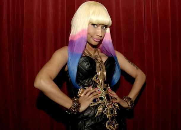 Nicki Minaj Dip Dye Rainbow  Nicki minaj  Tie dye hair