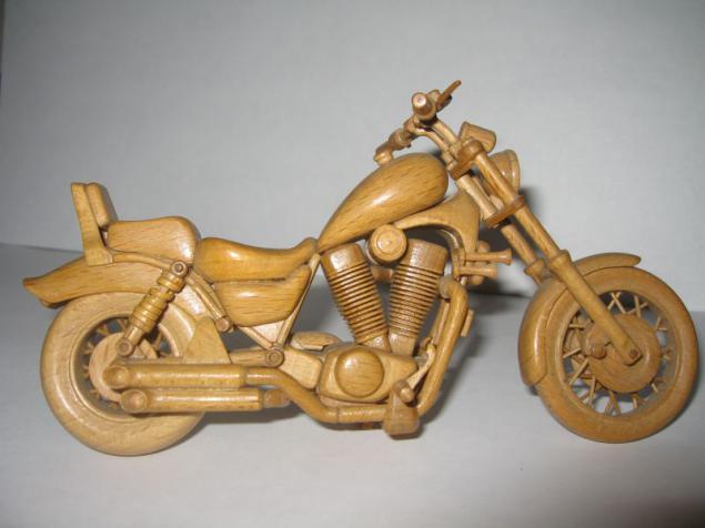Как сделать деревянный мотоцикл своими руками