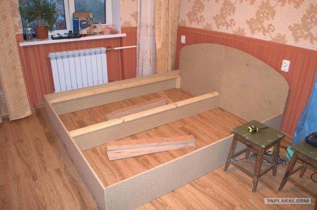 Двуспальная кровать своими руками из дсп