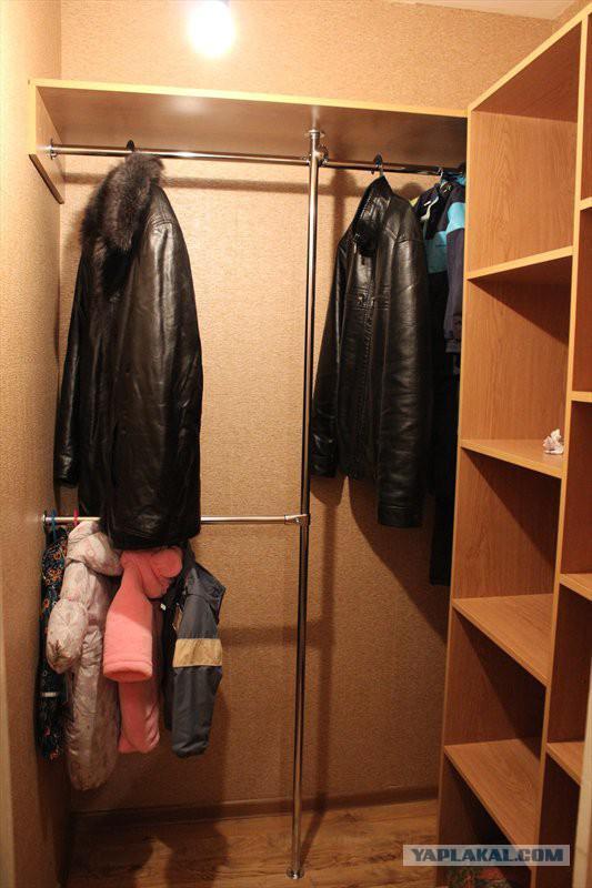Как сделать гардеробную в кладовке своими руками