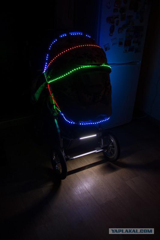 Подсветка коляски своими руками
