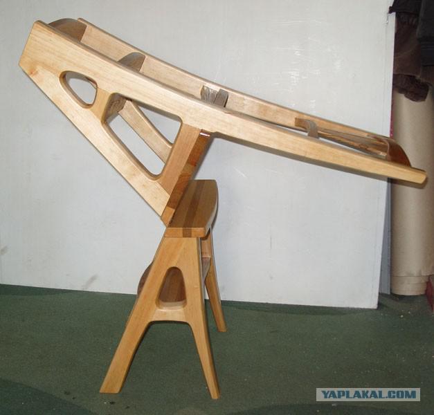 Как сделать стул-стремянку из дерева