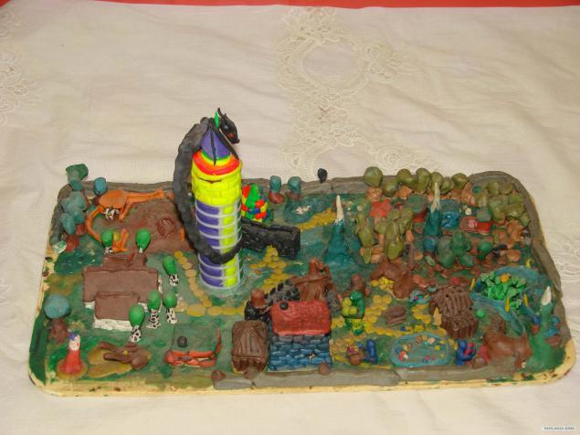 Город из пластилина фото