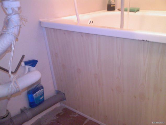 Как сделать экран для ванны из панелей пвх