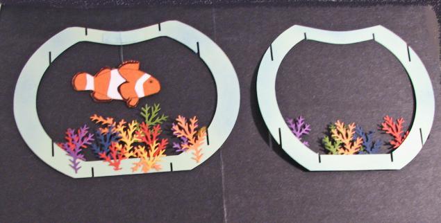 Открытки своими руками рыбка в аквариуме