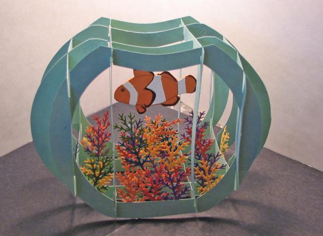Как сделать объемный аквариум