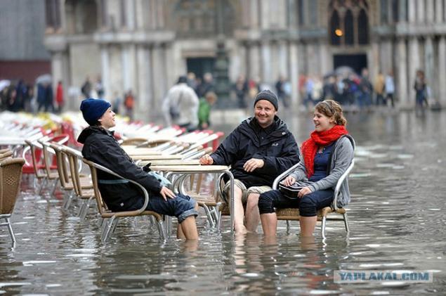Venice water November temperature
