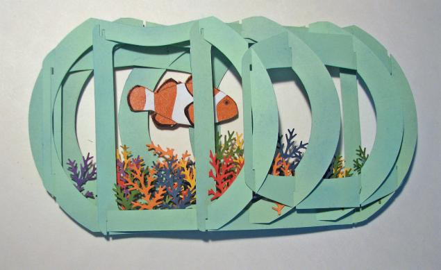 шаблон для открытки аквариум феникс повезло