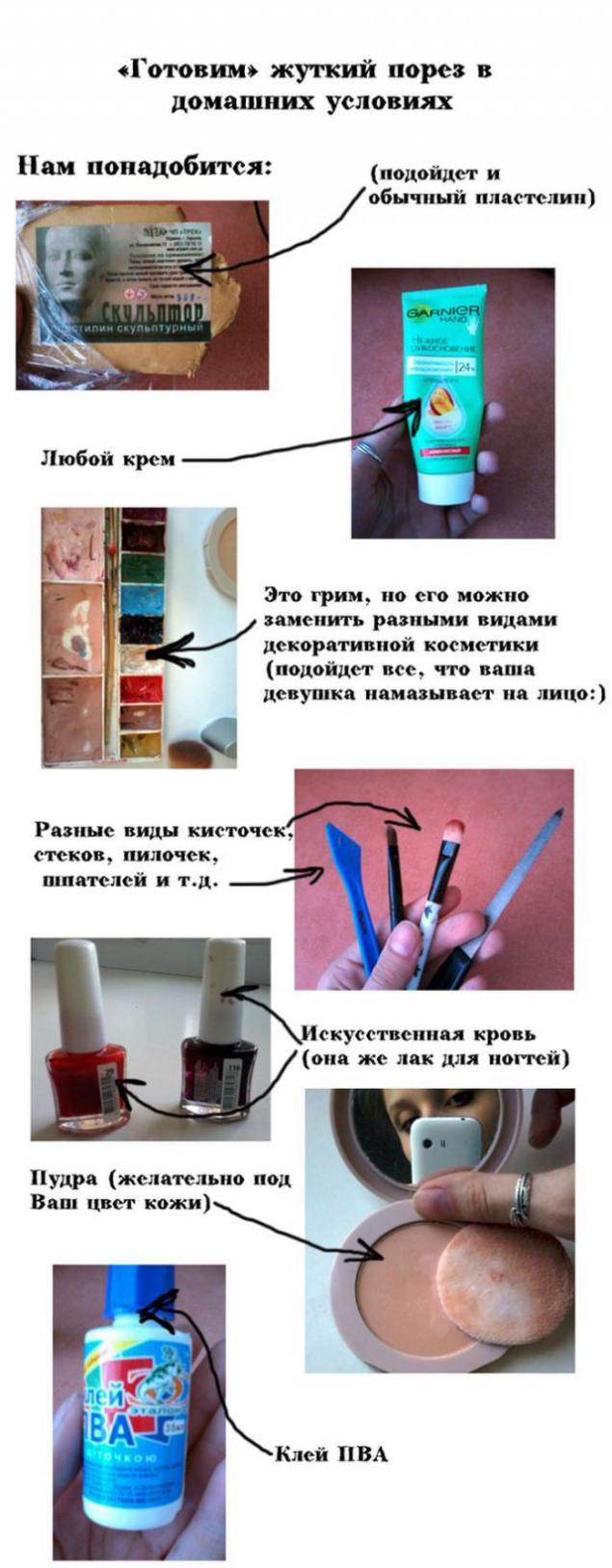 Как сделать поддельную рану своими руками