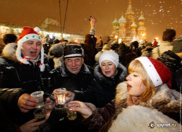 Русские отмечают старый новый год