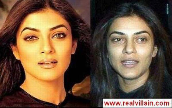 Индийские без макияжа