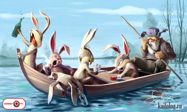 фото дед мазай и зайцы
