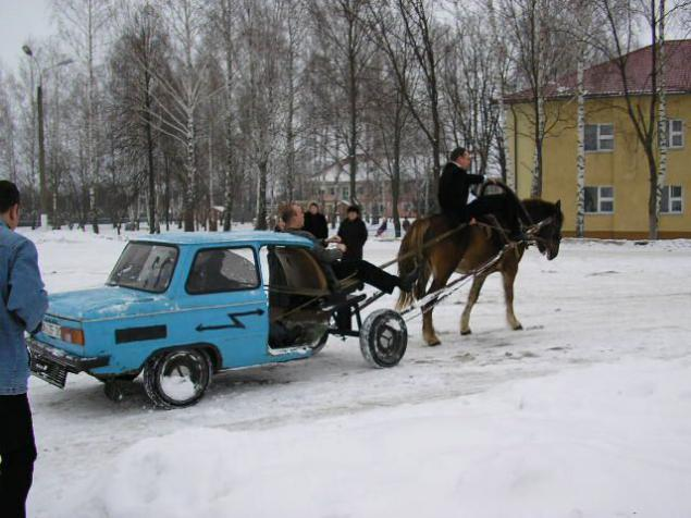 Resultado de imagen para auto tirado por caballo