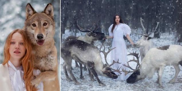 chicas con animales