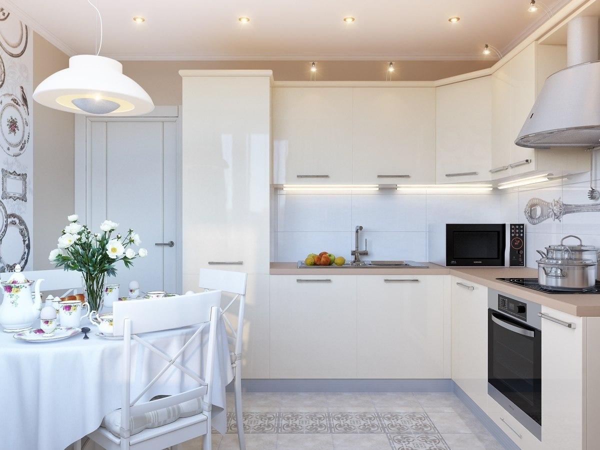 Дизайн современной кухни в белом стиле